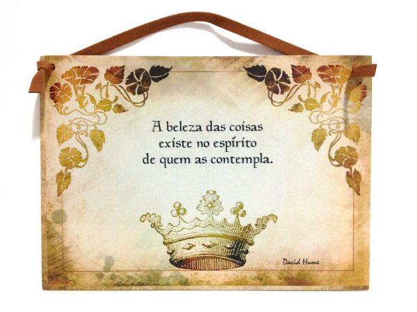 Placa Frase Coroa Loja De Bellarosacasa